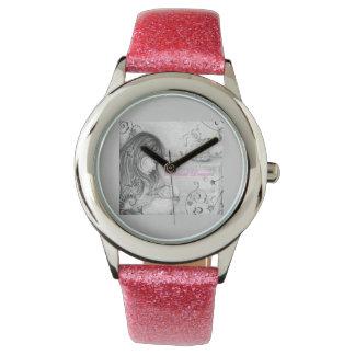El carrusel soña el reloj rosado de la correa del