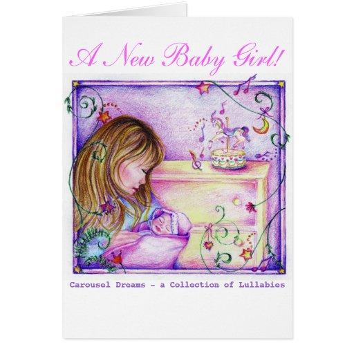 El carrusel soña la nueva tarjeta de felicitación