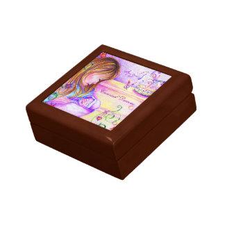 El carrusel soña la pequeña caja de regalo cuadrad joyero cuadrado pequeño