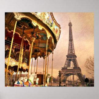 El carrusel y la torre Eiffel Impresiones