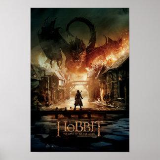 El cartel de película de Hobbit - de Laketown Póster