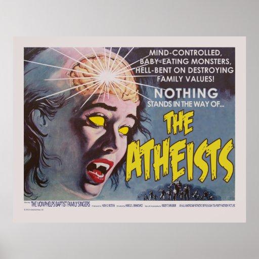 El cartel de película de la parodia de los ateos posters