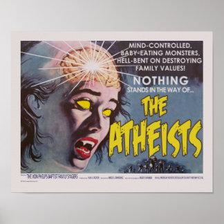 El cartel de película de la parodia de los ateos impresiones