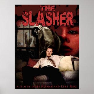 El cartel de película de Slasher Póster