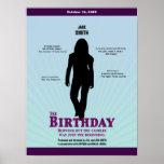 El cartel de película del cumpleaños (chica) posters