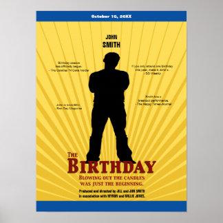 El cartel de película del cumpleaños muchacho poster