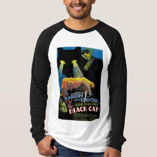 El cartel de película del gato negro playera