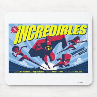 El cartel de película Disney de Incredibles Mousepads