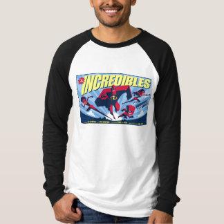 El cartel de película Disney de Incredibles Playera