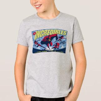 El cartel de película Disney de Incredibles Poleras