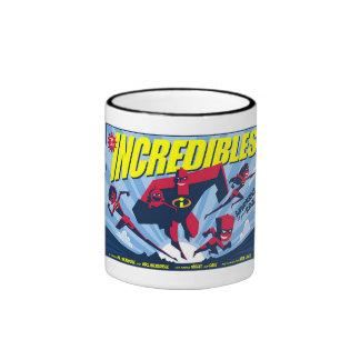 El cartel de película Disney de Incredibles Taza De Dos Colores