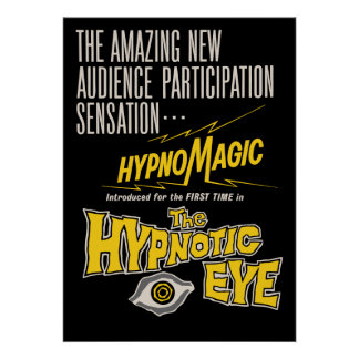 El cartel de película hipnótico del ojo póster
