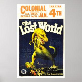 El cartel de película perdido del monstruo del póster