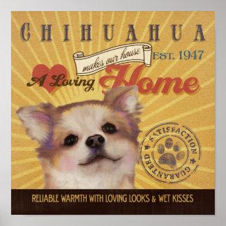 El cartel del arte del perro de la chihuahua hace  poster