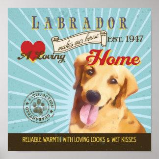 El cartel del arte del perro de Labrador hace nues Poster