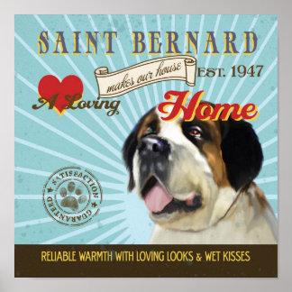 El cartel del arte del perro de St Bernard hace nu Impresiones