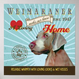 El cartel del arte del perro de Weimaraner hace nu Impresiones