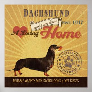 El cartel del arte del perro del Dachshund hace nu Posters