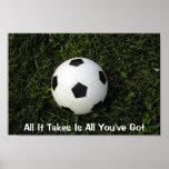 El cartel todo del fútbol que toma es todo usted t posters