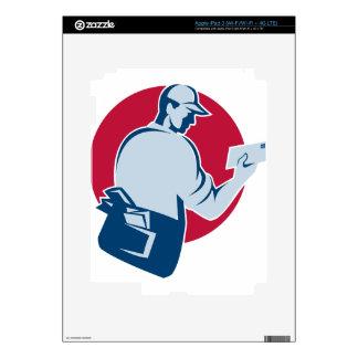 el cartero del cartero entrega el sobre del correo pegatinas skins para iPad 3
