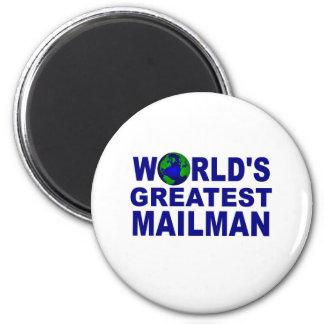 El cartero más grande del mundo imán redondo 5 cm