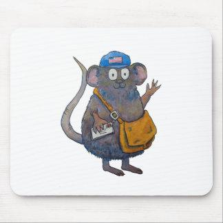 El cartero postal del cartero del poste le agradec alfombrillas de ratón