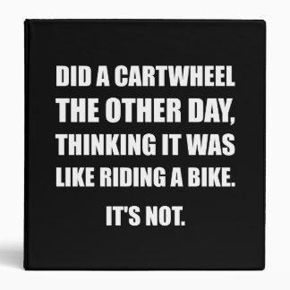 """El Cartwheel tiene gusto de montar la bici Carpeta 1 1/2"""""""