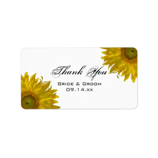 El casarse amarillo de los girasoles le agradece etiqueta de dirección