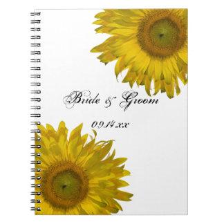 El casarse amarillo de los girasoles note book