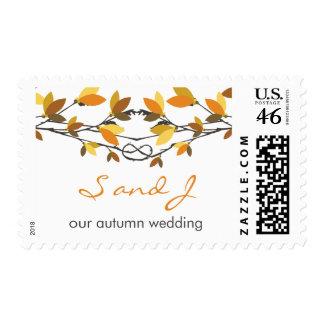 el casarse anudado otoño de los árboles de amor de