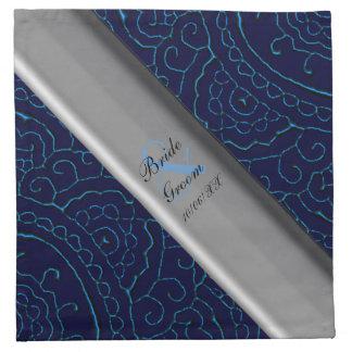El casarse (azul) magnífico de las mandalas de servilletas