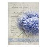 El casarse azul romántico de los Hydrangeas Invitacion Personalizada