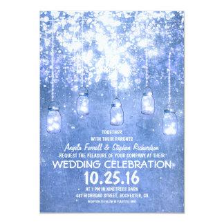 El casarse brillante de los tarros de albañil de invitación 12,7 x 17,8 cm