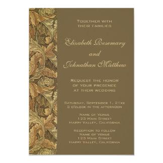 El casarse caliente de las hojas de otoño del invitación 12,7 x 17,8 cm