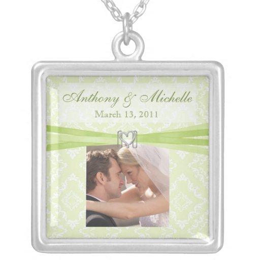 El casarse/collar nupcial del recuerdo con la foto
