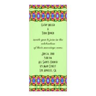 """el casarse colorido de las cintas invitación 4"""" x 9.25"""""""