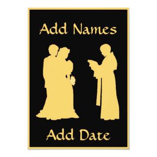 """El casarse con la tarjeta del sacerdote invitación 5"""" x 7"""""""