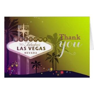 El casarse crepuscular de Las Vegas le agradece Tarjeta Pequeña