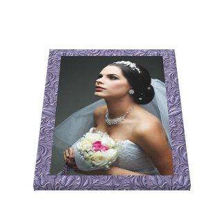 El casarse/cualquier fotografía - impresión de la  lona envuelta para galerias