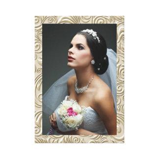 El casarse/cualquier fotografía - impresión de la  lienzo envuelto para galerias