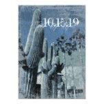El casarse de Arizona de las palmeras del cactus Invitación 12,7 X 17,8 Cm