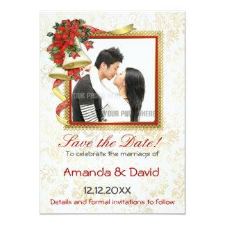 El casarse de Belces del Poinsettia Invitación 12,7 X 17,8 Cm