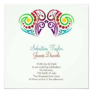 El casarse de dos corazones invitación