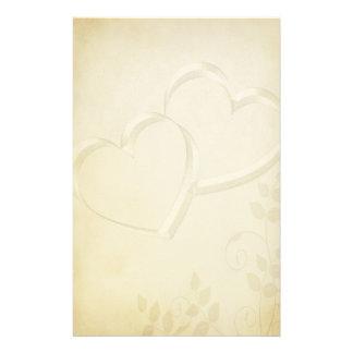 El casarse de dos corazones papelería de diseño