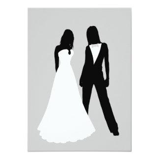 """El casarse de dos novias invitación 4.5"""" x 6.25"""""""