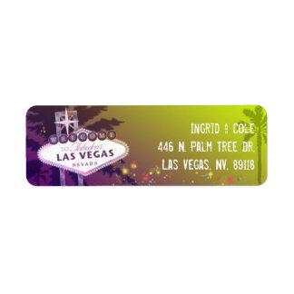 El casarse de igualación estrellado de Las Vegas Etiqueta De Remitente