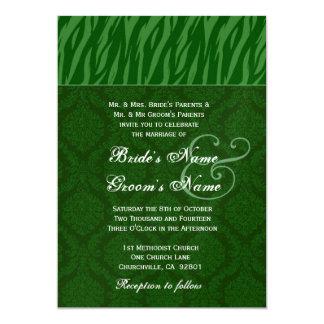"""El casarse de la hoja y de la cebra de Forest Invitación 5"""" X 7"""""""