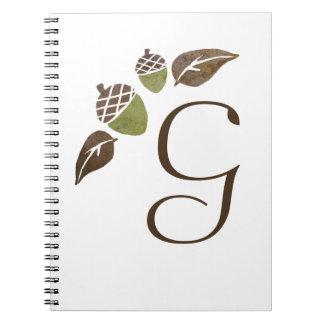 El casarse de las bellotas y de las hojas de la ca libreta espiral