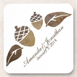 El casarse de las bellotas y de las hojas de la ca posavasos