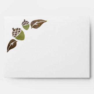 El casarse de las bellotas y de las hojas de la ca sobres